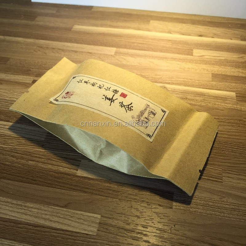 Tea pack kraft paper bag heat seal brown kraft paper sachet