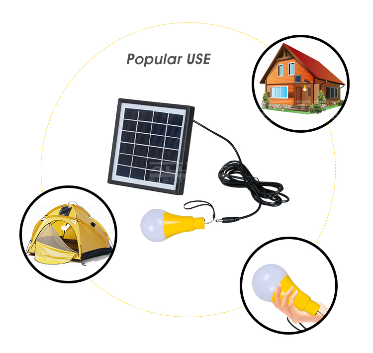 High quality ce rohs outdoor rechargeable and portable 5w solar led bulb