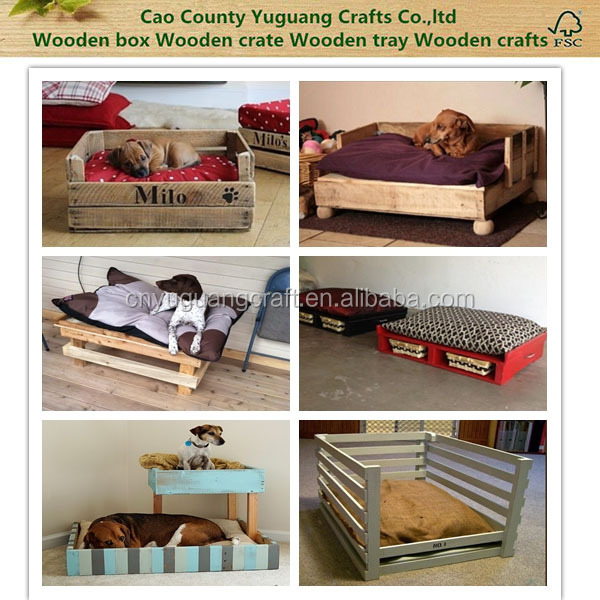 Hot selling pet dog products high quality wood dog crate, set of 3 wooden cat and dog beds