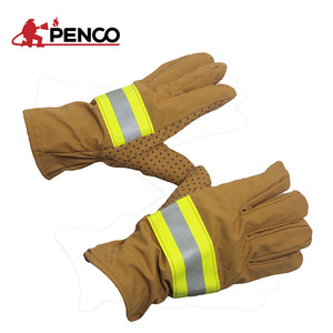 Aramid fire resistant proof fire fighting firefighter gloves