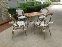 Popular used wicker patio furniture bamboo style
