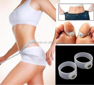 Magnet Lose Weight New Technology Healthy Slim Loss Toe Ring Sticker Silicon Foot Massage Feet HA00540