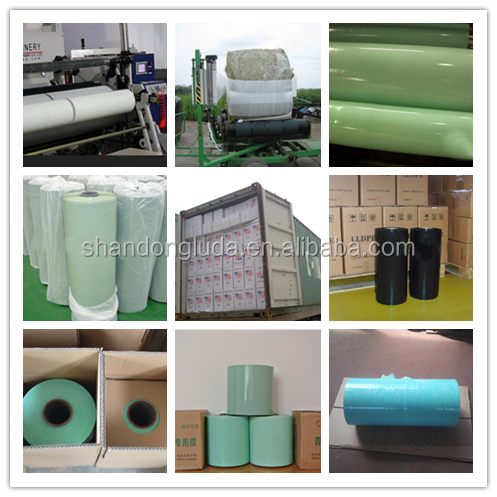 black plastic stretch film High quality agriculture plastic pe silage wrap
