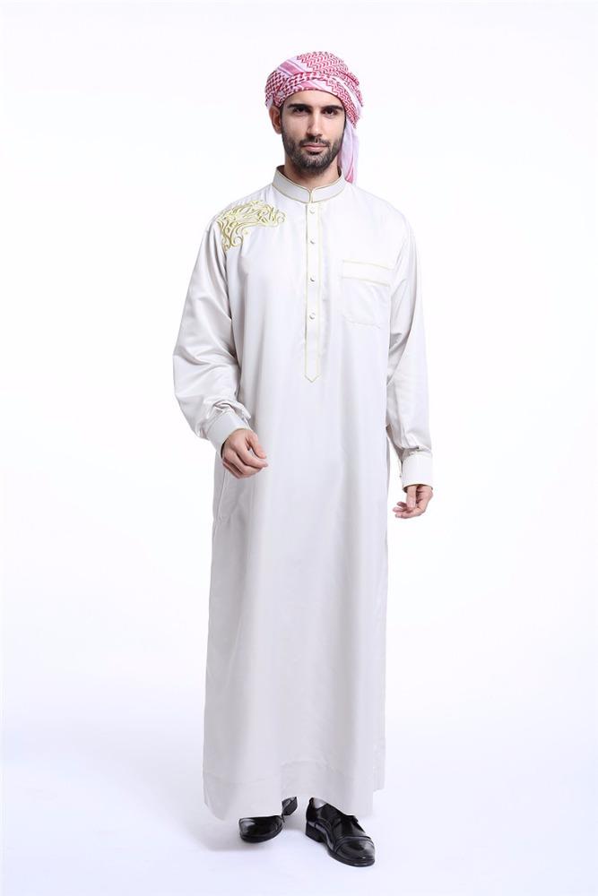 Muslim High Quality Embroidered Men Arab Thobe Newest Designs Men ...