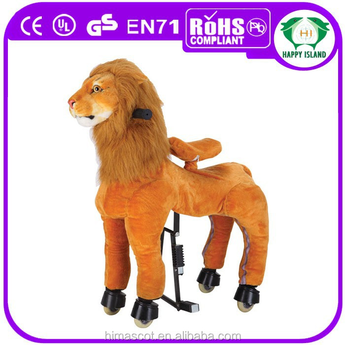 HI EN71 Playful lion king horse racing game ride on horse for sale