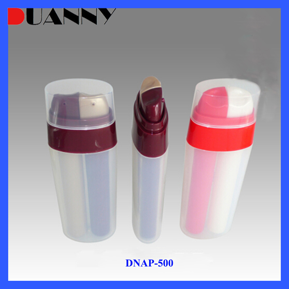 10mlx2 15mlx2 PP Oval Dual Chamber Plastic Airless Pump Bottle