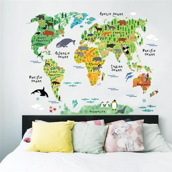 Hot selling custom size colorful animals vinyl stickers world map hot selling custom size colorful animals vinyl stickers world map wall sticker gumiabroncs Gallery
