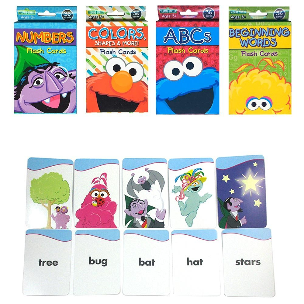 Buy 4 Sesame Street Flash Cards Beginning Words Numbers Colors Shapes Alphabet Abc In Cheap Price On Alibaba Com