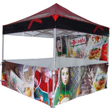 10x10 pop up advertisement tent for market use