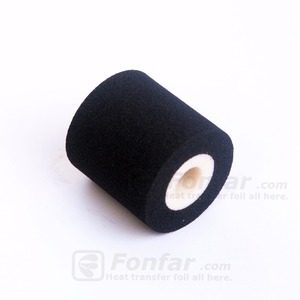 OD36 mm * W40 mm * ID11mm Black Printing Temperature Printer Ribbons Sponge Ink Roller with date printing machine