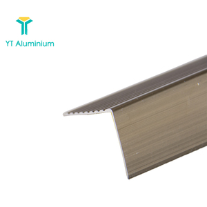 Stair Corner Protection Right Angle Shape Aluminium Stair Covers Stair Nosing To Ceramic Tile