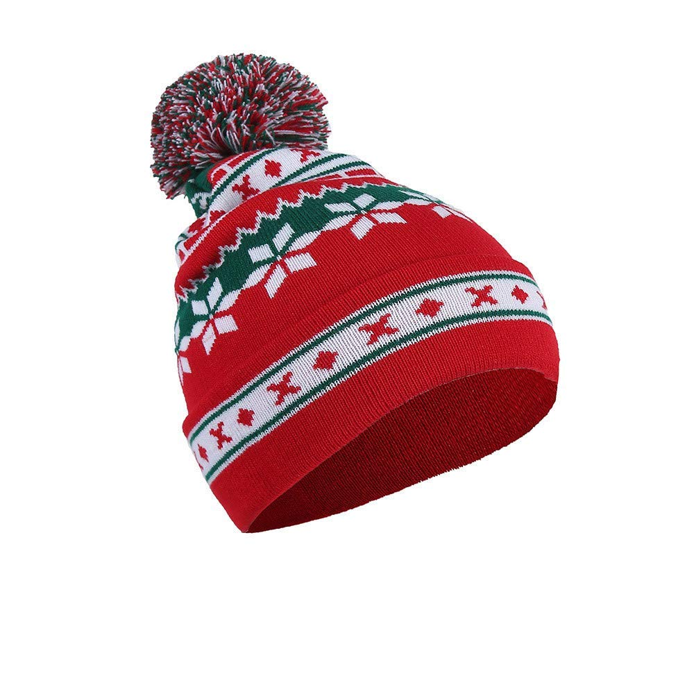 213d942f67d Get Quotations · Yezijin Men Women Christmas Knitted Hat -Thick Soft Warm  Winter Hat - Unisex-Baggy