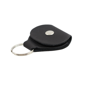 Wholesale high quality pu leather guitar picks holder case key chain