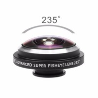 Clip-on 235 degree mobile phone super fisheye lens for Phone ,fisheye for phone