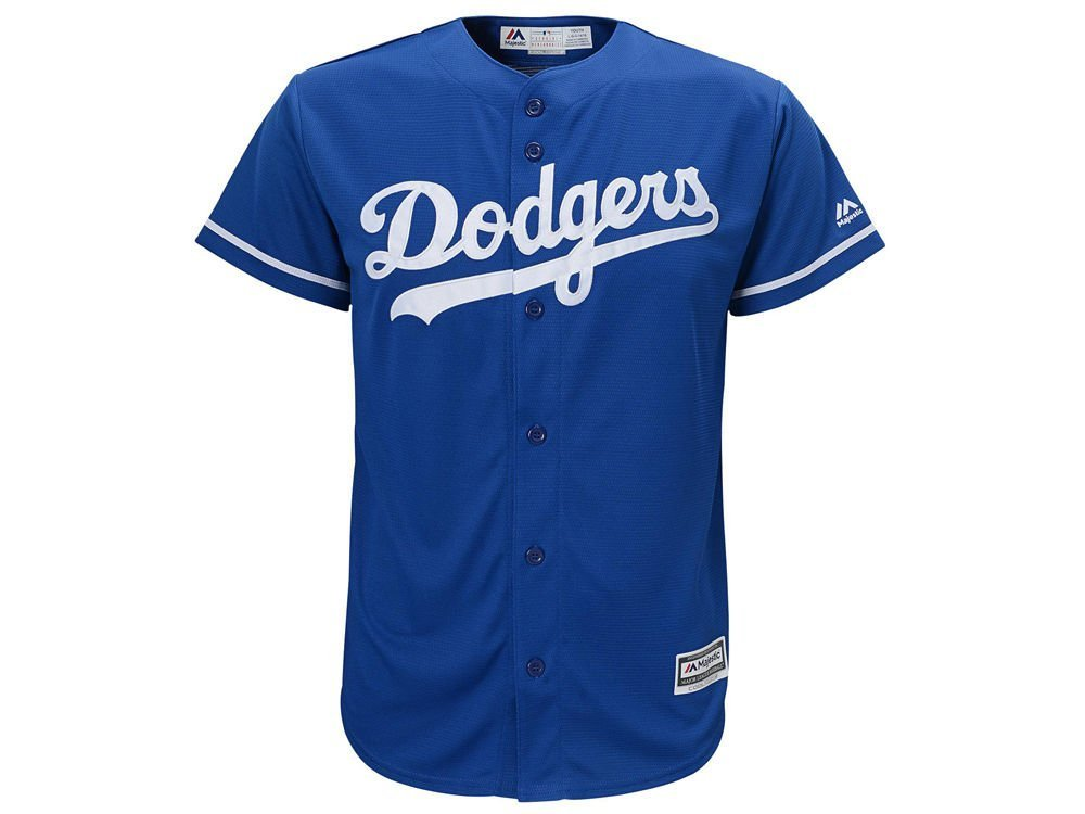 Los Angeles Dodgers Majestic MLB Youth Blank Replica Jersey - YOUTH MEDIUM  (10) 406e759ce52