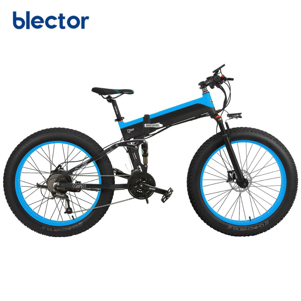 Powerful 500W/1000W Mountain Electric Bike with 26*4.0 Fat Tire, Red;yellow;blue;green