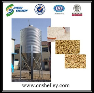 20 ton indoor feed storage hopper steel silo