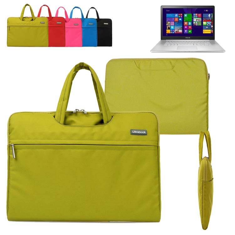 For Asus ZenBook NX500/ Pro UX501/  F555LA 15.6'' inch Computer Sleeve Laptop Bag Canvas Fabric Briefcase Travel Carrying Case