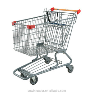 Canada Supermarket Shopping Trolley , supermarket push cart