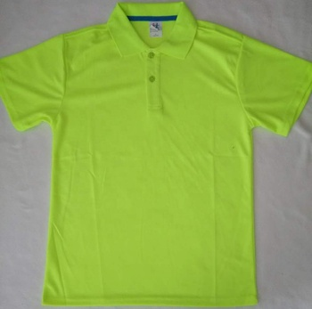 Hot sale fashional neon yellow dry fit marathon running sports polo shirt