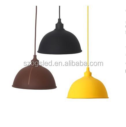 Modern Orange Plastic Pendant Lamp Shade