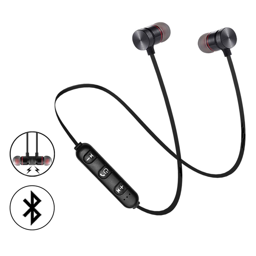 New magnetic in ear sport wireless earbuds neckband blue tooth earphone фото