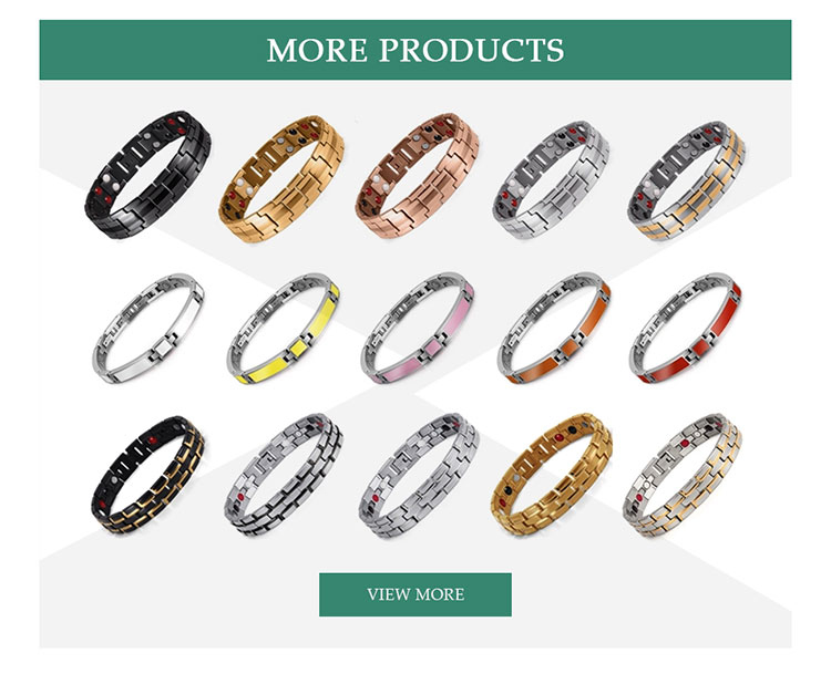 Mode-accessoires beste mannen witte keramische armband germanium groothandel gift sets