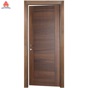 Bomei Solid Wood Interior Door Modern Swing flush wooden doors Door For Bedroom