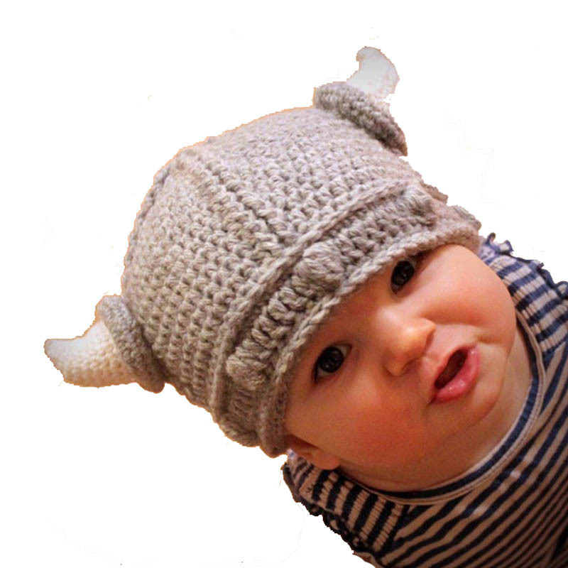 b8d9dae7e77 Buy New Children Infant Handmade Crochet Winter Hat Kid Viking Horns Hat  Knitted Hat Autumn Winter Cap Casual Hat in Cheap Price on m.alibaba.com