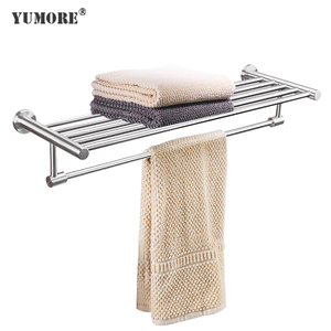 bathroom kitchen dish aluminium polished heated drying double layer hotel towel racks