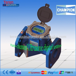 High temperature water meter digital double track channel flow meter wifi wireless ultrasonic rate instruments