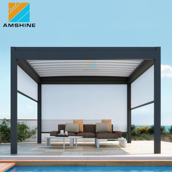 Free Standing Patio Roofing Aluminum Roof Louvers