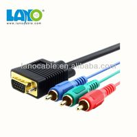 High speed vga/hd15/rgb to 3 rca component cable