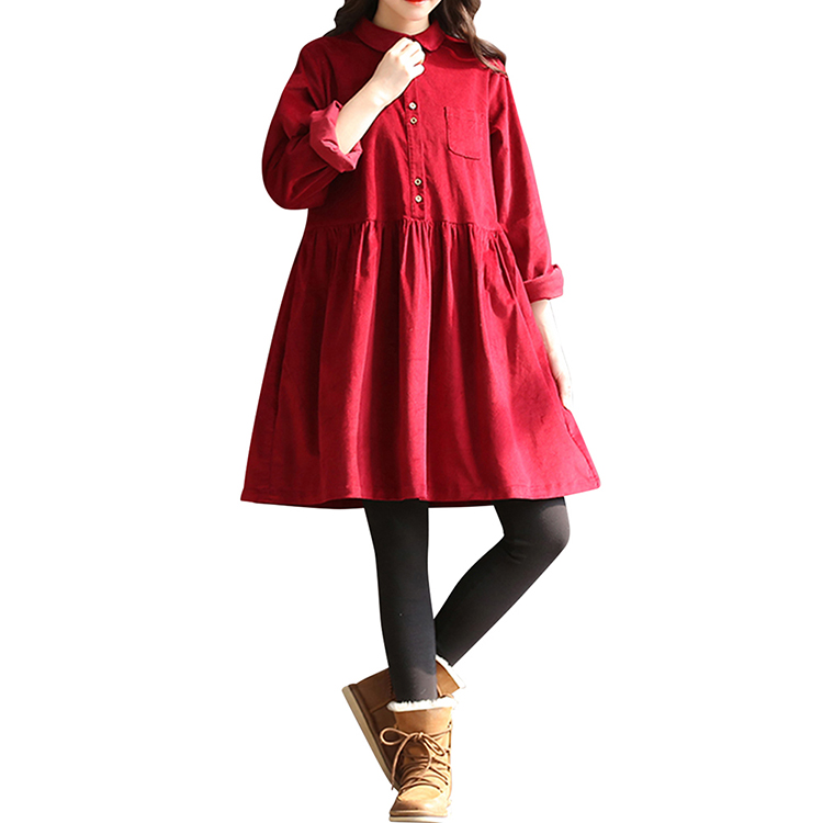 comfortable for girl red 2018 new Japan students cotton fabric lolita dress