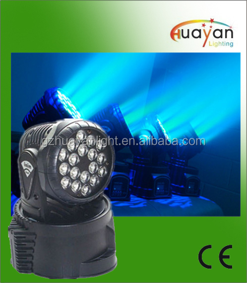 RGB 18x3w leds wash moving head light 18 3w mini wash