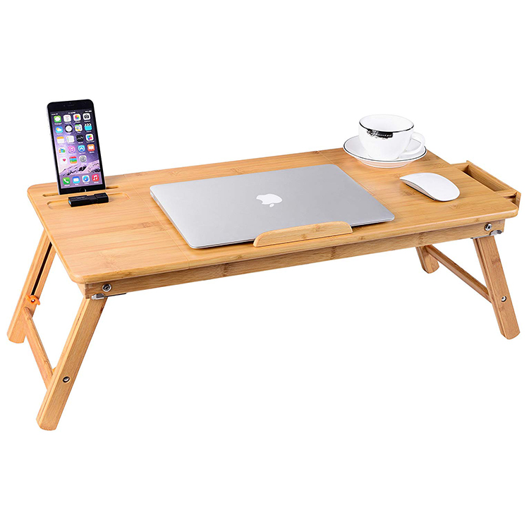 New Design Adjustable Bamboo Laptop Table Foldable Computer Desk