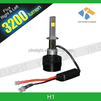 Small Volume 35w 3200lm 5000k Headlight Led Replace H1 Halogen ...