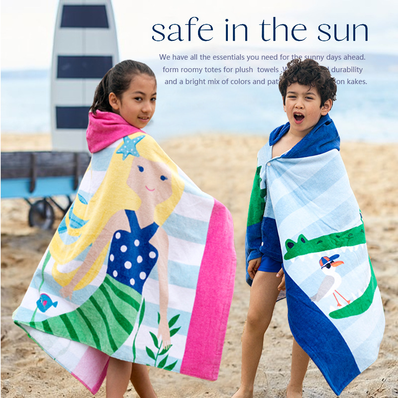 COTTON MATERIAL KIDS BEACH WRAP