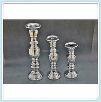 Set of 3 Resin Pillar Candle Holders