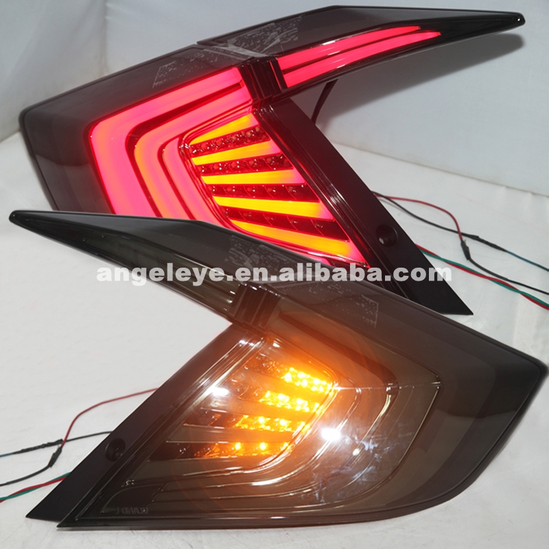 For HONDA Civic Taillight LED Rear Lamp 2016 Year Smoke Black Color LF