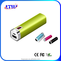 Universal, Portable 2600 mAh Rechargeable Li-ion Battery Charger/Power Bank with Backlit Digital LED Power Display
