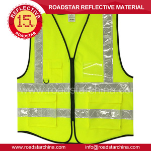 high visibility Traffic warning Safety Reflective vest