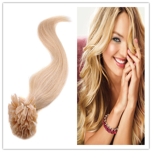 brazilian hair keratin u tip hair extensions #8 Light Brown hair extensions human pre bonded u tip Remy Nail Tip Hair wholesale