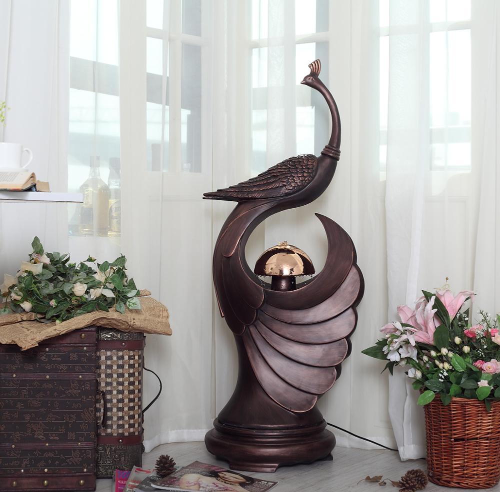 pavo real de agua fuente waterscape piso de la sala de decoracin de la resina regalos de empresa europeo grande