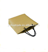 Low cost promotional wedding door brown gift kraft paper carrier bag