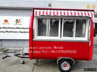 New standard used food carts mobile food kiosk food cart coffee trucks for sale roll ice cream machine