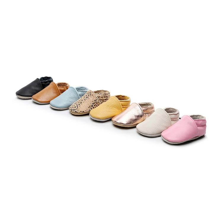 Ручной работы натуральная кожа детская обувь мягкая подошва скольжения на малыша детские мокасины обувь первые ходунки 0-24 м