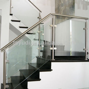 Lovely European Design Stainless Steel Interior Glass Railing Systems