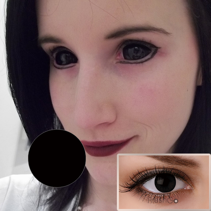 Hot Selling Pure Black White Blinds Mesh Crazy Contacts ...