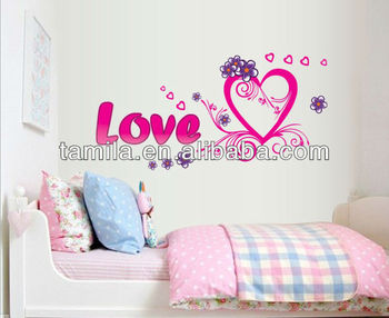 Home Decorative Love Heart Shaped PVC Wall Sticker